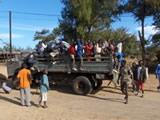 Talibes arriving by truck