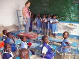 Erin O'Quinn during her Senegal placement last summer