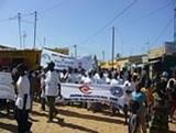Senegal Volunteers Join AIDS Awareness Day March