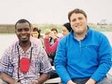 Blogmaster Will with Emmanuel from our Ghana office