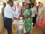 Projects Abroad donates paints to Shelter for Abused Children in Ghana