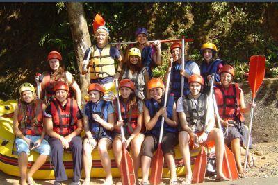 Volunteers on rafting trip