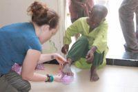 Volunteers Donate Shoes in Senegal