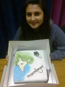 Projects Abroad fundraising cake