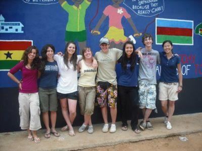 HS special volunteers and their mural