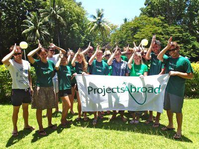 Group photo Shark conservation project volunteers