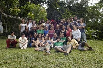 Volunteers group in Peru
