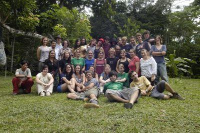 Volunteers group in Peru