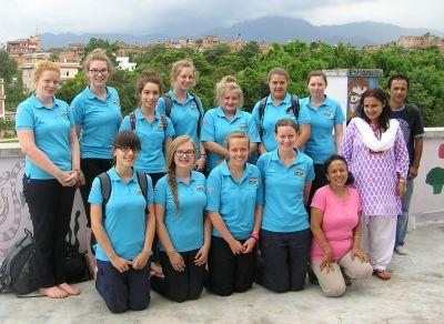 A group of girl guides in Nepal