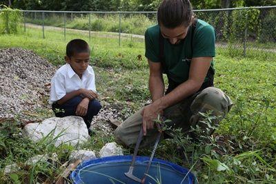 Volunteers assist with making schools eco-friendly