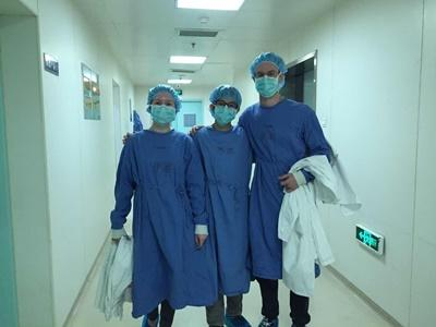 Projects Abroad Medical volunteers at their hospital placement in Shanghai