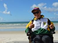 No wave too high for South African cerebral palsy surfer