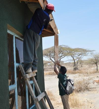 A house for the teachers being built in Tanzania
