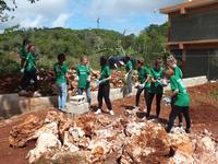 Projects Abroad volunteers build a safe playground for Jamaican children to learn and play