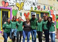 The Projects Abroad team contributes towards improving literacy in South Africa