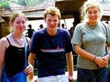Tom Pastorius with volunteers in India