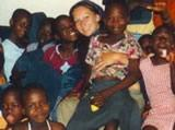 Becka and girls at orphanage
