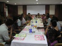 Post-seminar lunch of doctors and Projects Abroad staff
