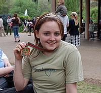 Emily after the race