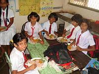 Children Enjoying the Food