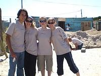 Volunteers at Habitat site