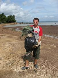 Bag full of fishing nets