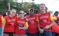 Volunteer runners with Desk Officer, Bikesegn