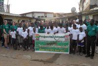 Ghana Volunteers Lead Health Walk with Orphans