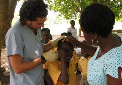 Medical outreach work in Ghana