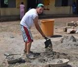Boston Latin Academy graduate volunteers on Building in Ghana
