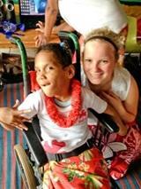 Freedom High School Graduate works with Special Needs children in Fiji