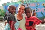 East Strousburg student volunteers at orphanage in Tanzania