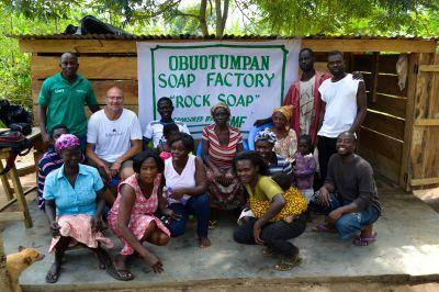 Soap factory in Ghana