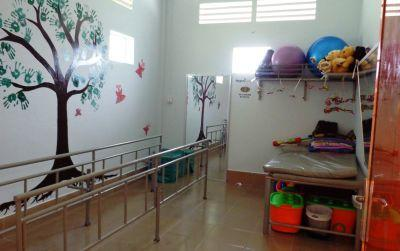 Newly equipped physiotherapy room