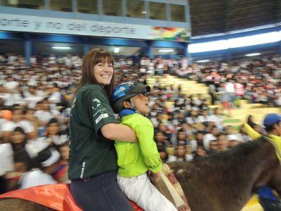 Equine therapy volunteers participated in the Bolivian Olympics