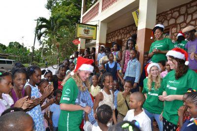 Projects Abroad Jamaica ensured that each child got a gift this Christmas
