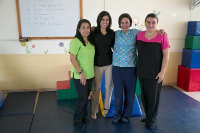 Pediatric physical therapy staff at Centro de Enseñanza Especial de Heredia in Costa Rica