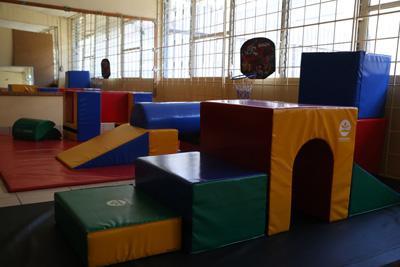 The children's physical therapy room at Centro de Enseñanza Especial de Heredia