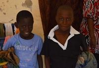 Volunteer donates clothes to talibé children in Senegal
