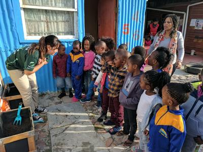 Education is an important part of the Nutrition Project in South Africa