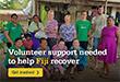 Volunteers respond to cyclone destruction in Fiji