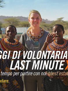 Viaggi di volontariato last minute - Newsletter luglio 2016