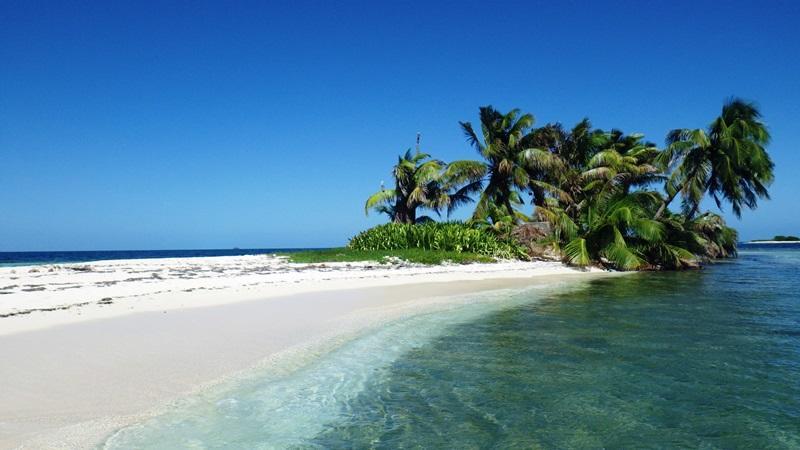 Strandabschnitt in Belize