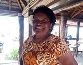 Eine Dorfbewohnerin auf den Fidschi - Inseln