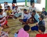 Freiwilliger mit seiner Klasse auf den Fidschi-Inseln