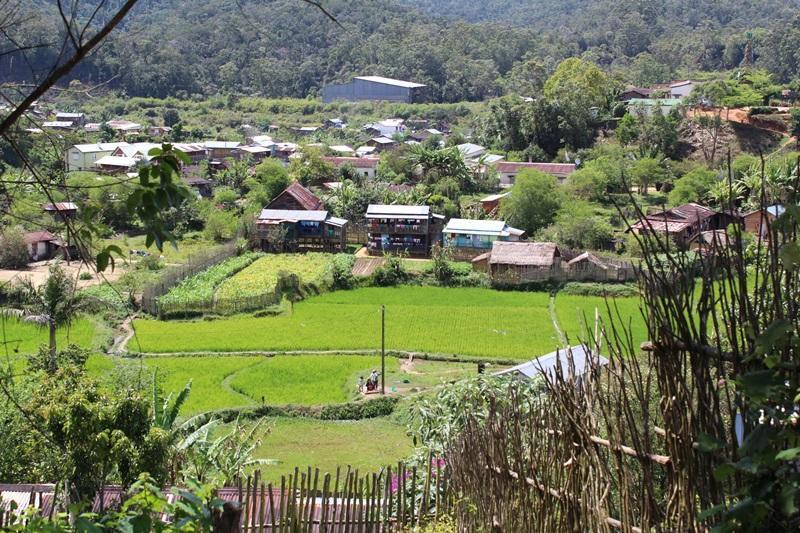 Ein Dorf nahe des Naturschutz-Projekts in Madagaskar
