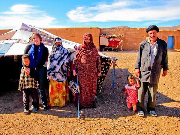 Nomaden Familie