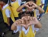 Kinder im Sozialarbeits - Projekt