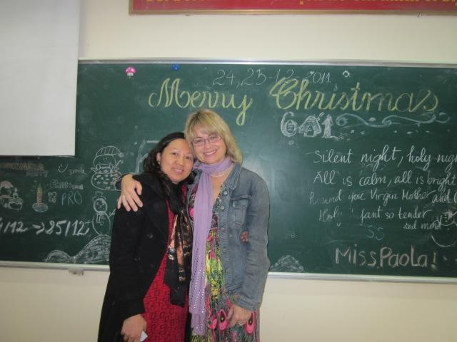 Deutschlehrerin mit Kollegin