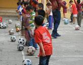 Training der kleinen Kicker